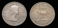 South Rhodesia 1954 2 Shilling Rare Key Date, XF, Low Mtg 300,000, Nice Grade