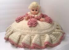 New listing Beautiful Vintage Hand Crocheted Bed Pillow Doll