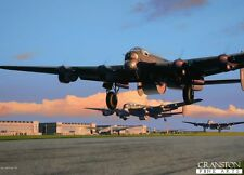 WW2 Aviation art post card The Dambusters Avro Lancaster Bomber RAF 617 sqd