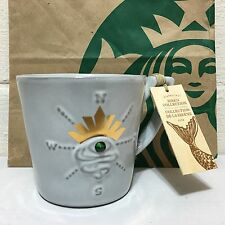 Starbucks 2014 Siren's Eye Swarovski Crystal 12oz Anniversary Mug Cup NWT