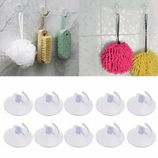 10PCS Glass Window Wall Strong Suction Cup Hooks Hanger Kitchen Bathroom