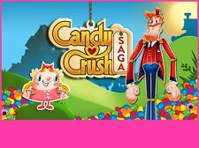 Candy Crush Saga Edible Birthday Cake Image Topper Frosting Icing 1/4 Sheet