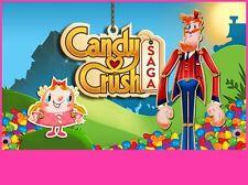 Candy Crush Saga Edible Birthday Cake Image Topper Frosting Icing 1/4 Sheet