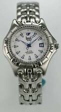 Dumont Saab Watch Silver ALL Stainless Steel 200m Water Res Date White Quartz
