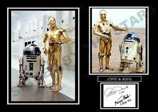 STAR WARS C3PO & R2D2 SIGNED / AUTOGRAPHED PRINT