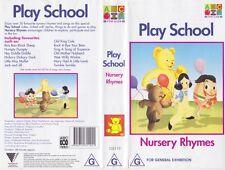 PLAY SCHOOL ~NURSERY RHYMES ~ABC  VHS PAL VIDEO~A RARE FIND
