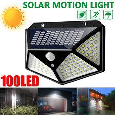 ARILUX 100 LED Solar Power PIR Motion Sensor Outdoor Garden Wall Lamp Light