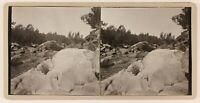 Estéreo Río Natural, Rocas Y Piedras, Foto Vintage Analógica