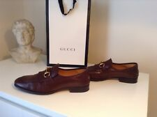 Gucci leather fringe horsebit loafers brown size 8/ fits 9