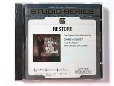 Studio Series - Chris August - Restore - accompaniment track christian cd - new