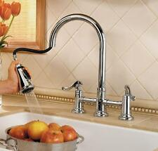 Pfister Ashfield Polished Chrome 2 Handle Kitchen Bridge Pull Down Faucet