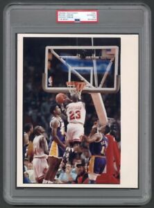 "Michael Jordan 1991 NBA Finals "" THE MOVE "" PSA/DNA LOA Type 1 Photo Bulls HOF"