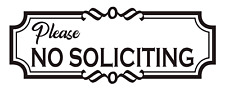 Please NO SOLICITING Vinyl Decal, Business, office, doors, Windows, Outdoors etc