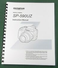 Olympus SP-590UZ Instruction Manual with Protective Covers!