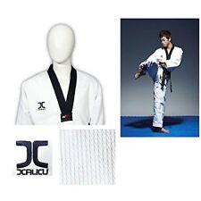 WTF JC Taekwondo Anzug mit Gürtel 170 M Champion Diamond JCalicu schwarz Revers