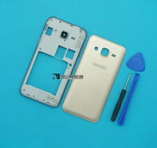 For Samsung Galaxy J2 SM-J200 Gold Housing Middle Frame+Battery Cover