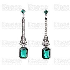 e04b472d70c73 Emerald Green Costume Earrings for sale | eBay