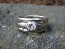 Vintage Ladies Platinum Diamond Ring - Size 6 - 0.35 carats