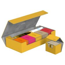 ULTIMATE GUARD SUPERHIVE Yellow XENOSKIN FLIP 550+ CASE Card Storage Box Deck
