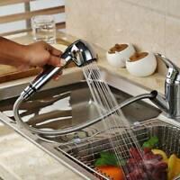 Pull Out Kitchen Mixer Sink Taps Single Lever Spray Head Chrome Mono Mixer Tap