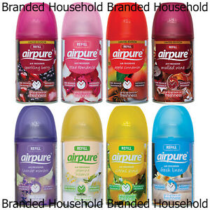 6 X AIRPURE AUTOMATIC SPRAY REFILLS AIR FRESHENER FRAGRANCE 250ML CHOOSE SCENT