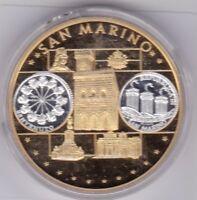 San Marino 2006 PP Bauwerke Benvenuto Europa Europe Farbmedaille coloured medal