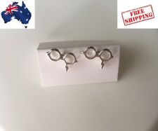 Cute Harry Glasses Stud Earrings-Silver plated-Au Seller