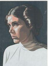 Star Wars Galaxy 5 Silver Foil Chase Card #12 Princess Leia