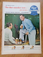 1950 Pabst Blue Ribbon Beer Ad Golfere Ben Hogan National Open Pga Champion