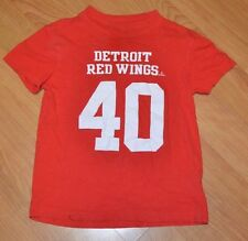 Detroit Red Wings Kids Youth 6-7 Zetterberg Hockey Jersey T SHirt Nice Small NHL