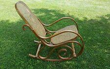 Vintage Mid-Century Thonet Style Bentwood Rocker, Cane Back Rocking Chair Pickup