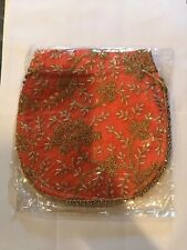 Indian Trditional Potli Bag Embroidered , Orange