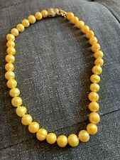 Yellow Fresh Water Pearls Necklace 17 Inches