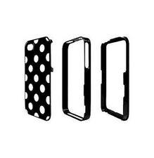 Funda Carcasa Moxie 3 Partes Iphone 4 4S Negro Lunares Blanco Lujo