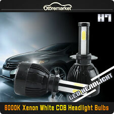 H7 CREE COB LED Headlight Bulbs for Volvo VW Auid Benz 1600W 21600LM 6000K White
