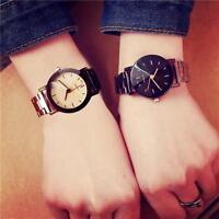 Fashion Men's Women Watches Analog Quartz Stainless Steel Wrist Watrch Bracelet