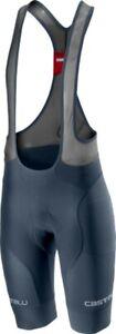 NEW Castelli Free Aero Race 4 Bib Shorts Dark Steel Blue TEAM, Medium