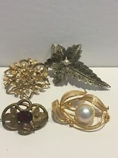 Fashion Brooches 4 Assorted Vintage/