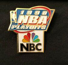 1998 NBA Playoffs Pin NBC Chicago Bulls Jordan 6th Championship NBA NBC Logo