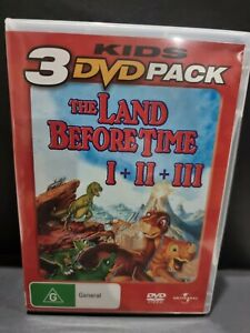 The Land Before Time 1 + 2 + 3 DVD Movie Region 4  - Kids Animation
