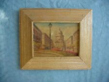 H. HARVEY Listed Woodstock  MINIATURE STREET SCENE PAINTING Possibly New York