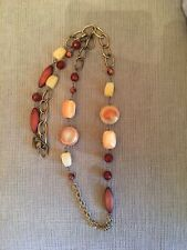Fossil Goldtone Beaded Necklace 38""