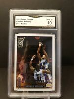 2003 TOPPS CHROME #113 NUGGETS CARMELO ANTHONY RC GMA 10 GEM MINT