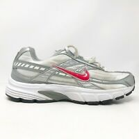 Nike Womens Initiator 394053-101 White Gray Pink Running Shoes Lace Up Size 6.5