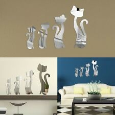 Modern Removable Mirror DIY Cat Decal Vinyl 3D Acrylic Wall Sticker Home Decor