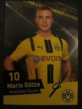 Handsignierte AK Autogrammkarte *MARIO GÖTZE* Borussia Dortmund 16/17 2016/2017