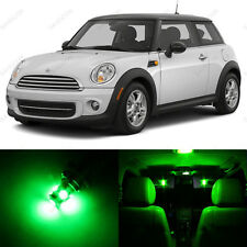 11 x Green LED Lights Interior Package For Mini Cooper S R56 Hardtop 2006 - 2014