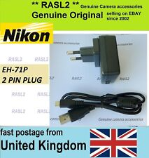 Original NIKON EH-71P Charger + USB Cable CoolPix AW130 S9700 S9900 S7000 P1000