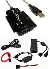 """USB zu IDE SATA  2 / 3 Adapter 2,5"""" 3,5"""" + AC Netzteil PC Notebook Festplatte"""
