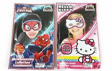 Lot of 2 Children's Neon Glow Glasses Set -Spiderman & Hello Kitty